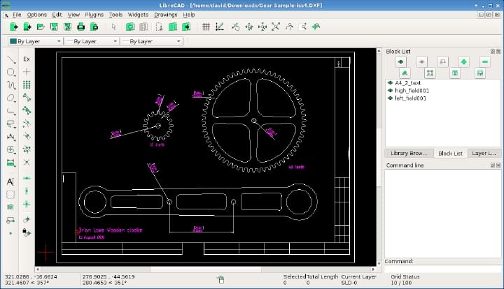 LibreCAD Open Source 2D CAD
